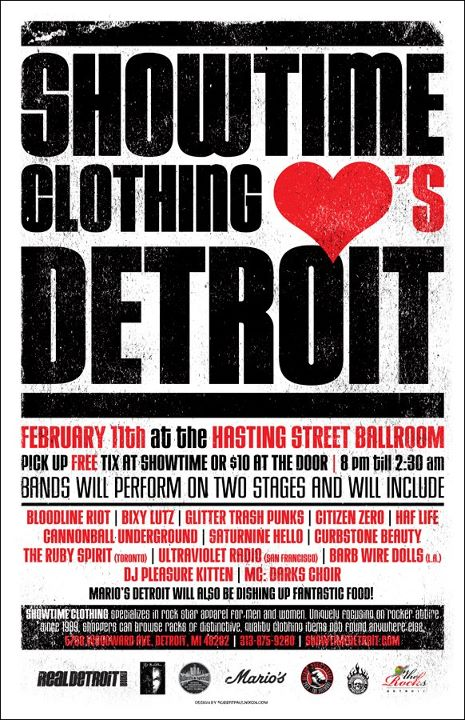 Showtime Clothing Heart's Detroit